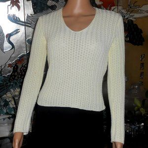 Made in Italy of Benetton Crop Cotton Sweater